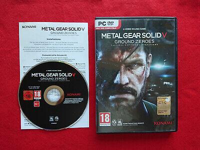 METAL GEAR SOLID V 5 GROUND ZEROES PC COMPUTER ITA Italiano Konami Hideo