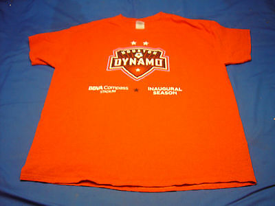 Houston Dynamo Bbva Compass Stadium  Inaugural T Shirt  Size Xl