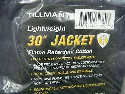 Tillman 6230 Bl Lightweight 30 Blue Jacket Flame Retardant Cotton - Size Large