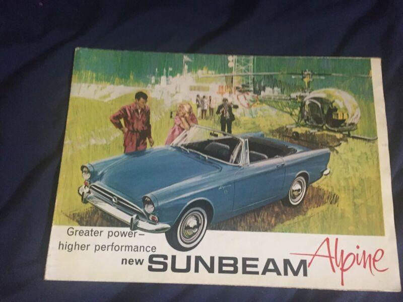 1965 1966 Rootes Sunbeam Alpine USA Market Color Brochure Prospekt