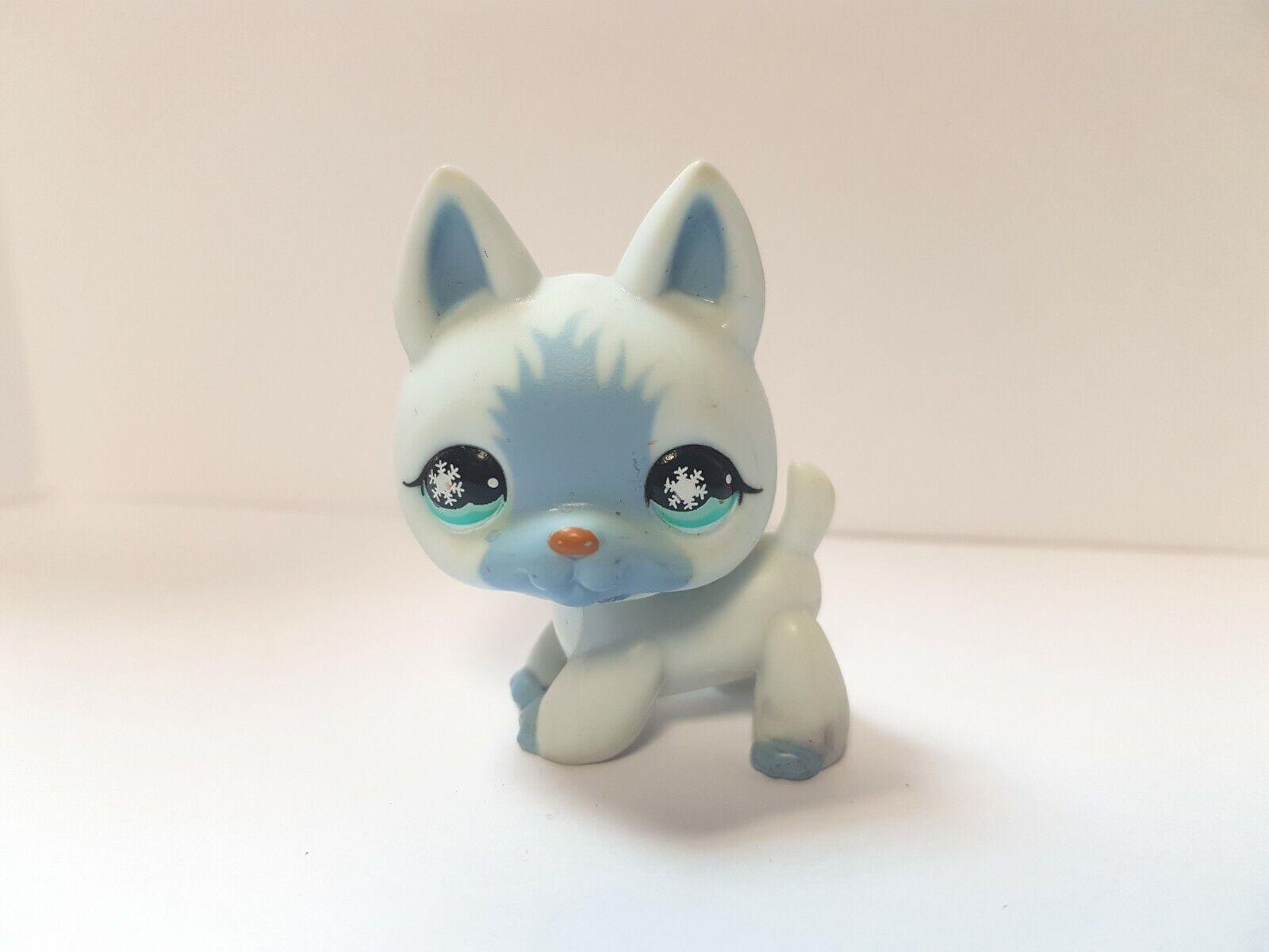 Figurine  petshop  original   chien dog berger allemand 689 bleu   pet shop lps