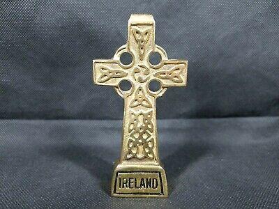"Liffey Celtic Cross 4"" Freestanding Brass Ireland Irish Artifacts Paperweight"