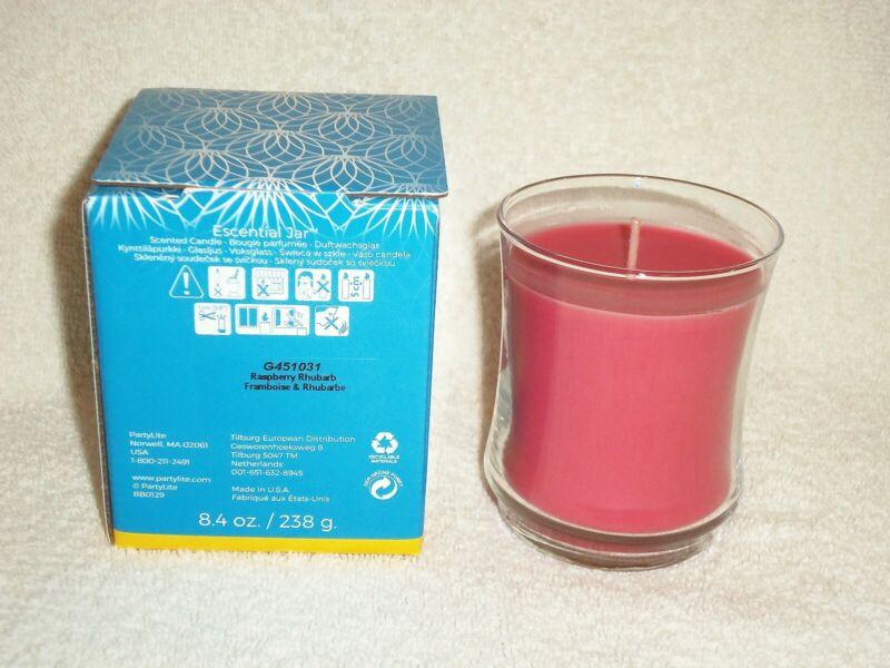 Partylite Raspberry Rhubarb Escential Jar -- NIB