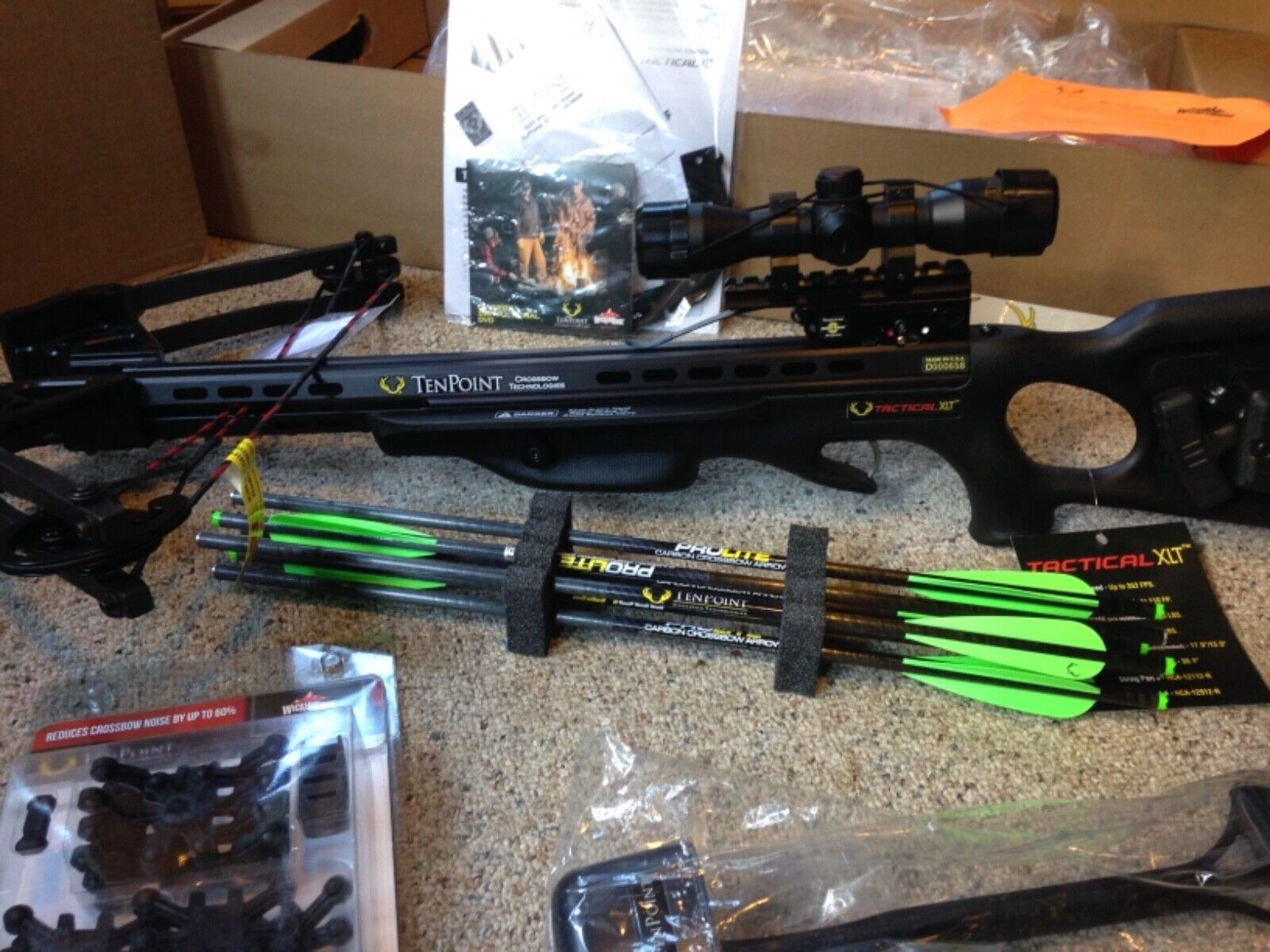 New Tenpoint Tactical XLT Crossbow package w/ACUdraw 50 & ac