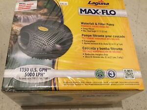 Laguna Max-Flo 1350 GPH Waterfall and Pond Pump