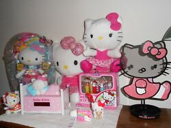 New SANRIO HELLO KITTY Lot PRINCESS BLIP Doll, Pez Set, Alarm Clock Backpack etc