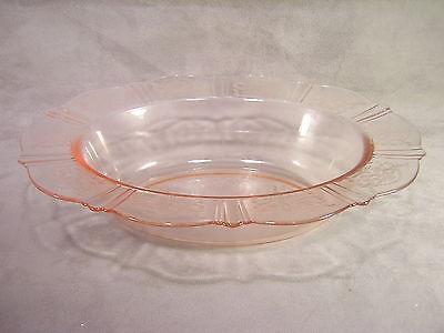 MacBeth-Evans Glass American Sweetheart Pink Oval Vegetable Bowl