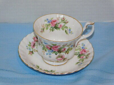 Royal Albert Moss Rose cup & saucer Bone China Made in