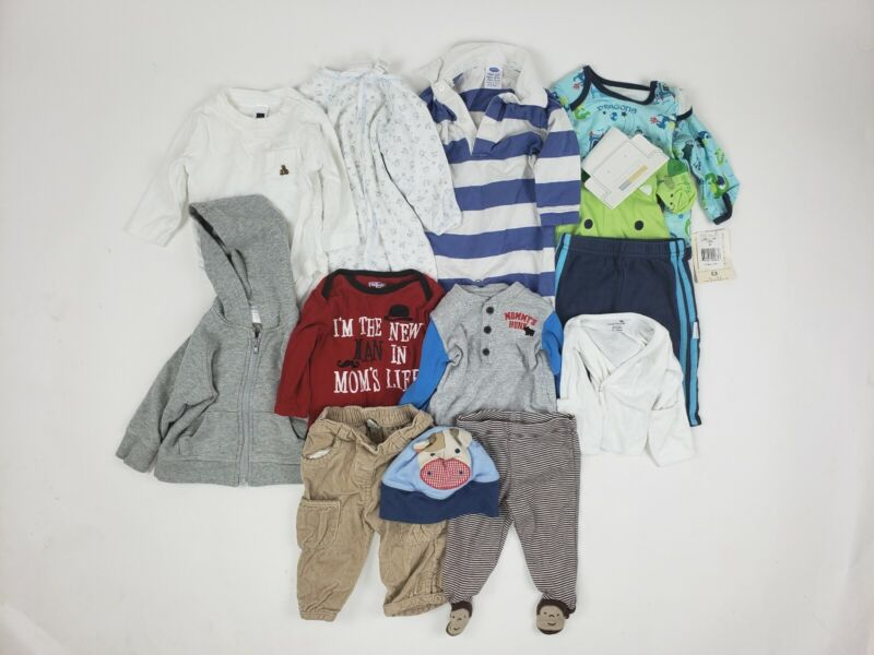3-6 Months Boy Gap Carters Old Navy Etc Clothes Lot Outfit Hoodie Sleeper Baby