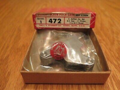 Starrett 472 Screw Pitch Gage 4-84 Tpi 51 Leaves - In Original Box Usa