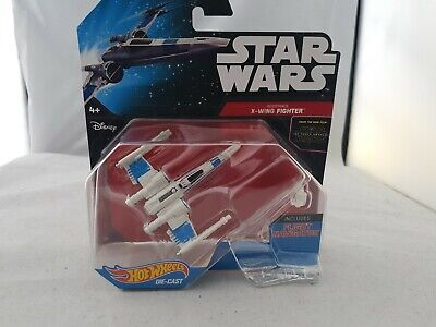 Star Wars Hot Wheels Starships X-Wing  Fighter with Flight Stand new
