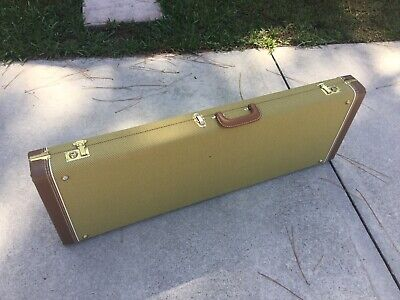 Guitar Case Tweed Hard Shell Rectangle for Fender Style Guitar