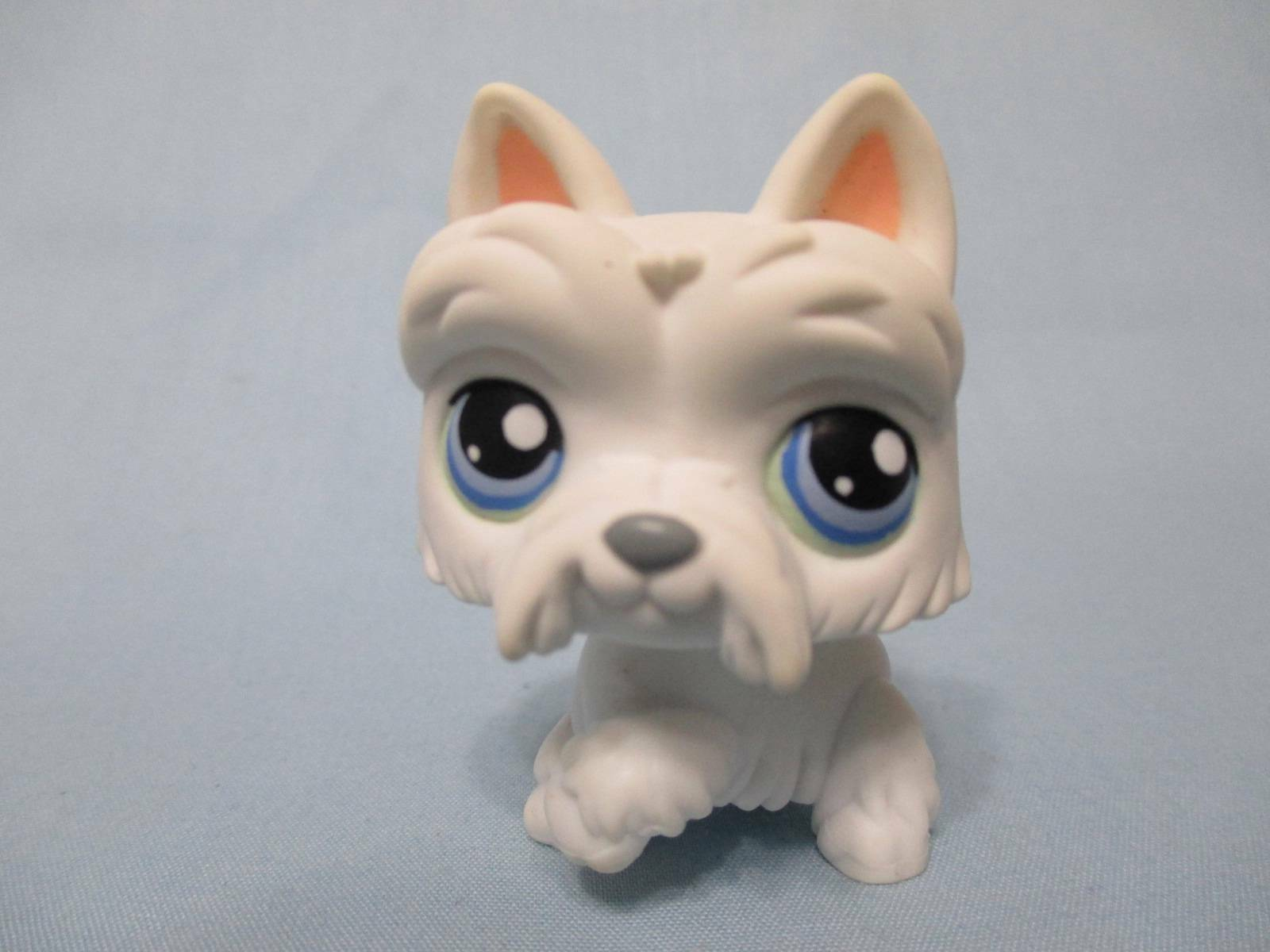 Купить Littlest Pet Shop White Scottie Dog #24 Scottish Terrier LPS 100% Authentic
