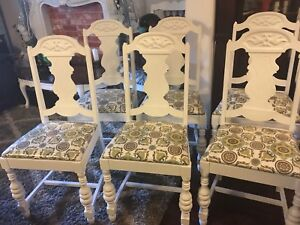 Beautiful Antique Shabby Chic Dinning Chairs