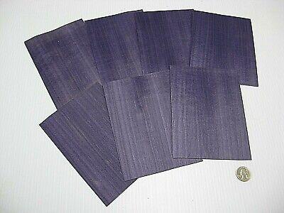 1 Lot Of 7pcs Dyed Purple Raw Veneer Shorts Lot 415