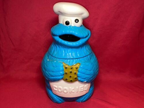 Vintage Sesame Street Cookie Monster Cookie Jar Muppets Inc Chipping See pics