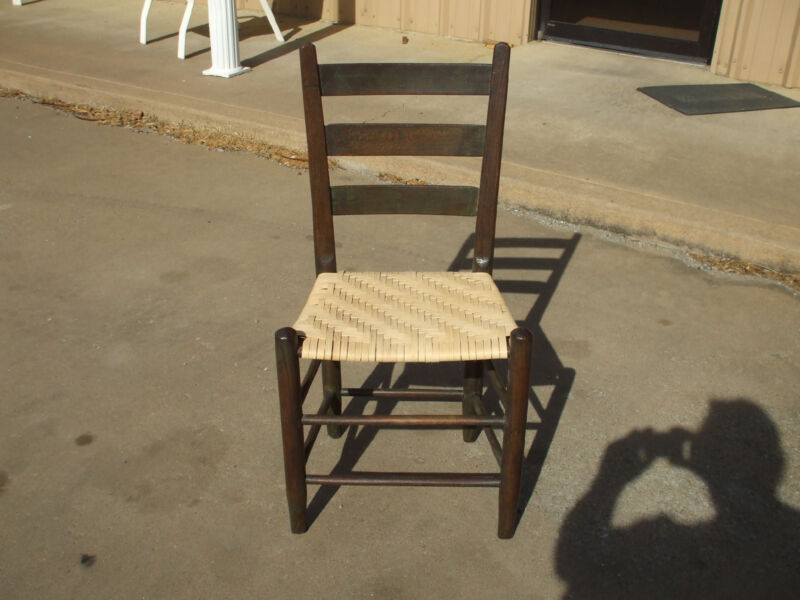antque ladder back chair