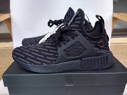 Adidas NMD XR1 Primeknit Shoes Triple Black US9.5 NEW