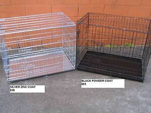 NEW XL Collapsible Metal Pet /Dog Puppy Cage Crate-METAL TRAY Kingston Logan Area Preview
