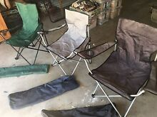 Three adult size folding camp chairs Greenwich Lane Cove Area Preview