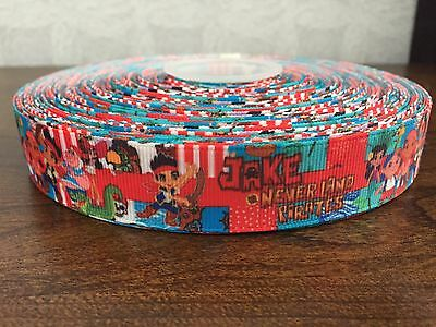 1m Jake and the Neverland Pirates Grosgrain Printed Ribbon 7/8