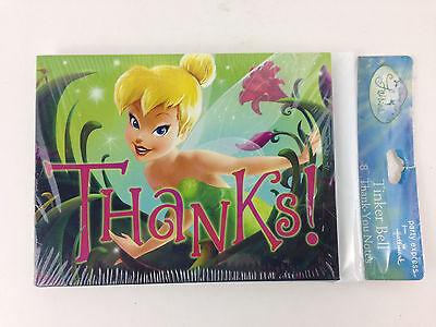 Hallmark Disney Fairies Tinker Bell THANK YOU CARDS Notes Pixie Birthday SEALED