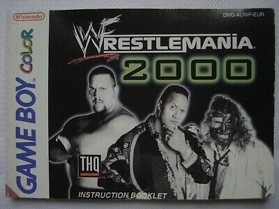 WWF Wrestlemania 2000 Nintendo Game Color Instruction Booklet ONLY