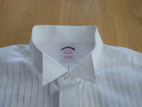 NWT Brooks Brothers White Formal Wing Collar Shirt 15.5-35 Traditional MSRP $135