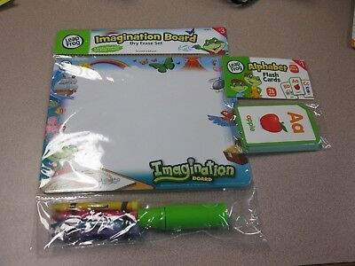 Leap Frog - DRY ERASE BOARD AND ALPHABET FLASH CARDS