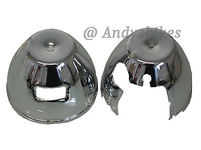 KAWASAKI Z650 Z750 Z900 Z1 Z1000 CHROME PAIR SPEEDO Amp TACHO CLOCK COVERS BOWLS