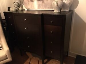 PRICE DROP---Shermag dressers- solid wood and made in Canada