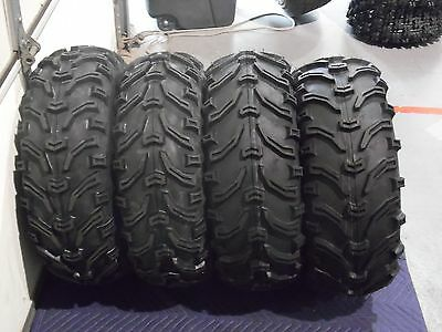 "25X8-12 25X10-12 2007-2014 YAMAHA GRIZZLY 450 BEAR CLAW 25/"" ATV TIRES SET 4"