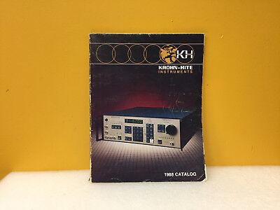Krohn Hite 1988 Test Measurment Instrumentation Catalog