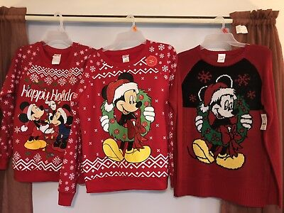 NWT Womens Ugly Christmas Sweater Disney Mickey Mouse, pick size - Christmas Ugly Sweaters