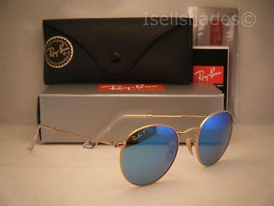 Ray Ban 3447 Matte Gold W Blue Polar Lens  Rb3447 112 4L 50Mm Size