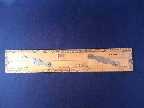 """Antique 15"""" H. Hughes & Sons Maritime Navigational Parallel Rule Capt Fields EN"""