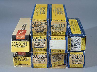 Lot 10 Of Cornell-dubilier Capacitors Xa0191 Xc0618 C0103 D0230