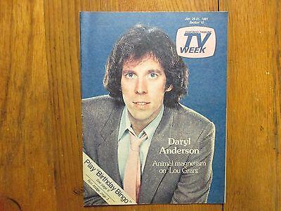 Jan 1981 Chicago Tribune Tv Week Magazine Daryl Anderson Lou Grant Stephen Macht