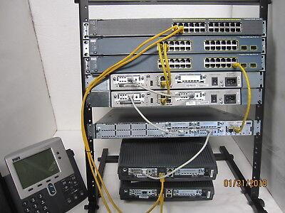 #1 eBay Seller 220-301 Updated Cisco CCNA Massive Lab KIT 5x Router 3x Switch L3