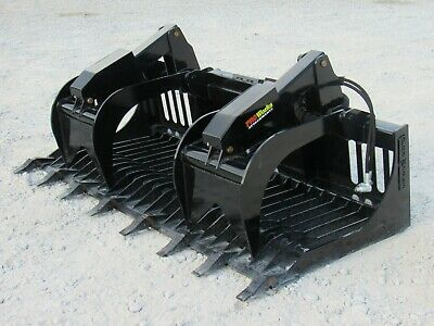 80 Severe Duty Rock Grapple Bucket With Teeth Skid Steer Loader Attachment