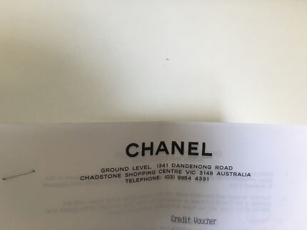 Chanel credit voucher Chadstone Monash Area Preview