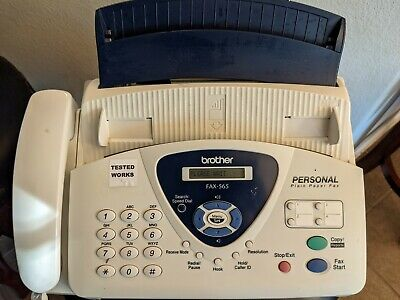 Brother Fax-565 Fax Machine With New Brother Oem Ink Cartridge