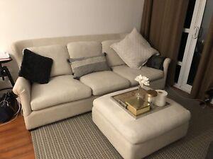 Belgian linen sofa