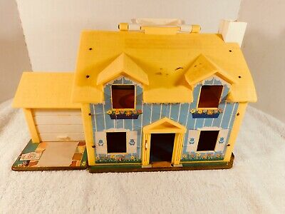 Vintage Fisher Price Little People Family Play House #952 1969 Yellow HOUSE ONLY