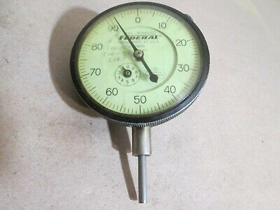 Federal Dial Indicator Gauge Model D81s .001 Full Jeweled Good Cond.
