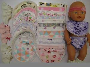 Baby Born Nappies, Bibs, Booties & other clothes Seville Grove Armadale Area Preview
