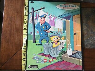 Vtg Whitman 1961 Hanna-barbera TOP CAT frame tray puzzle cartoon