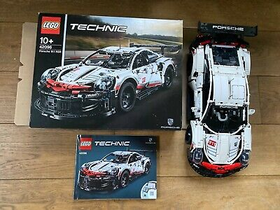 LEGO 42096 Technic Porsche 911 RSR 1580 Pieces - Built Once - Mint Box, Manual