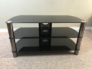 Tempered Glass TV Stand - EUC