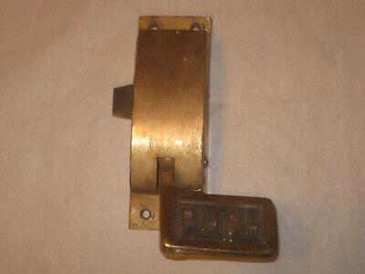 Vintage RIGHT  SIDE Panic Latch – Push Bar Exit/Regress – Brass Door